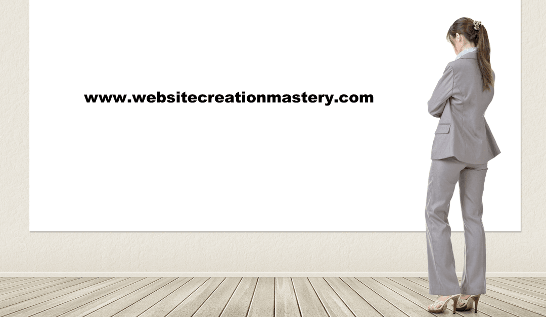 Welcome To Website Creation Mastery