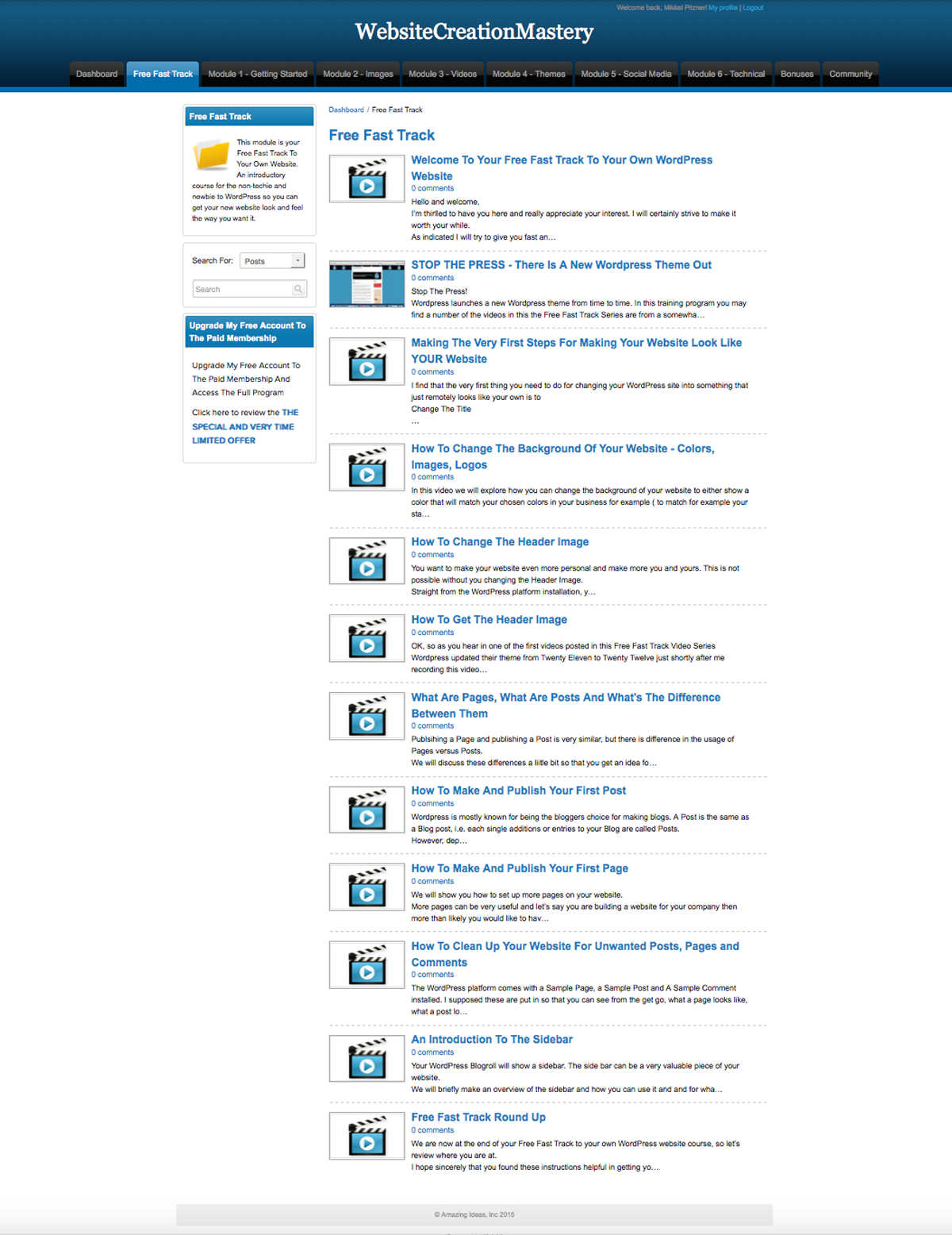 fast track video series on how to make a wordpress website fast track video training series